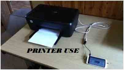 OTG CABLE CONNECT PRINTER